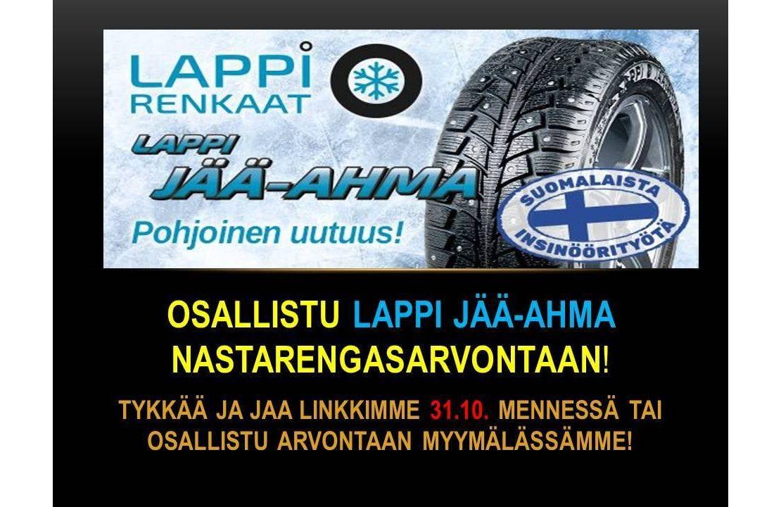 LAPPI JÄÄ-AHMA NASTARENGASSARJAN ARVONTA