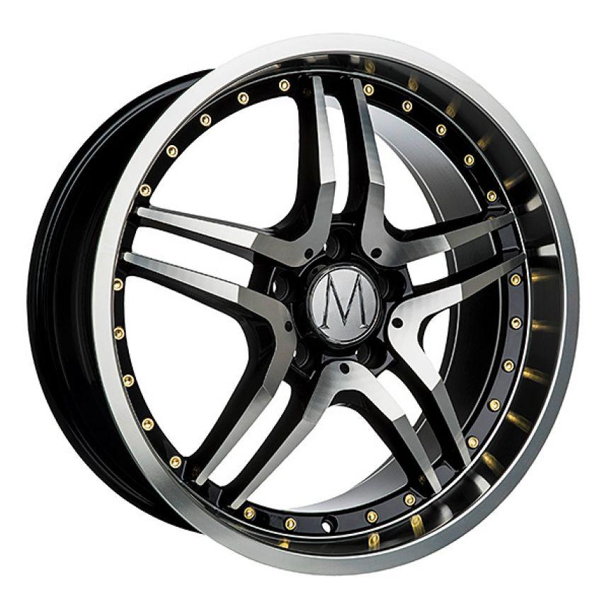 GT Black Polished Gold Rivets